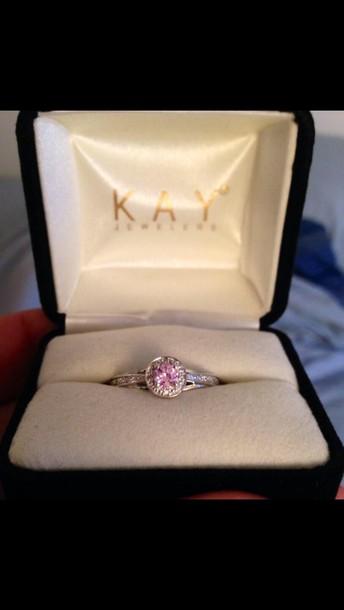 jewels pink cute diamond ring