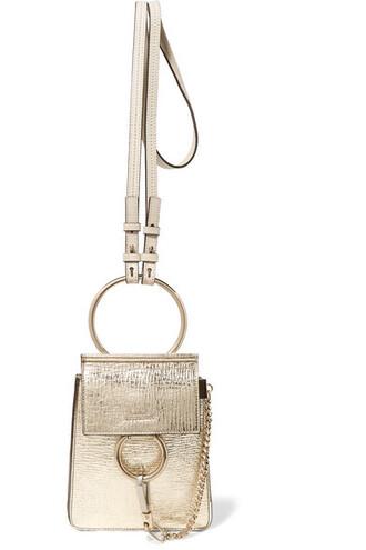 mini metallic bag shoulder bag gold leather