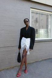 jacket,blazer,unisex,slide shoes,bag,vintage,mini skirt