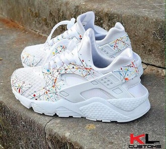 shoes white nike sneakers sneakers colorful