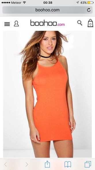 dress short dress short orange dress orange sleeveless