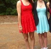 dress,red dress,blue dress,strapless,pattern,see through,pretty