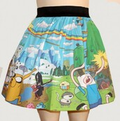 skirt,adventure time,high waisted