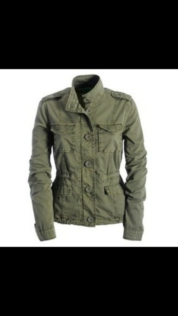 olive green army jacket coat military fur coat