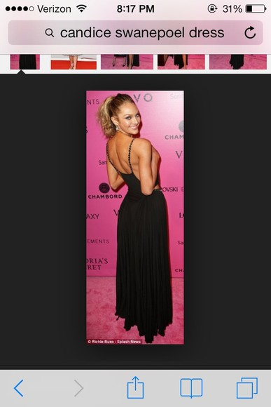 dress black maxi dress candice swanepoel