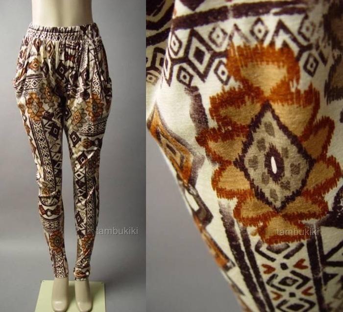 African tribal geometric print slouchy vtg