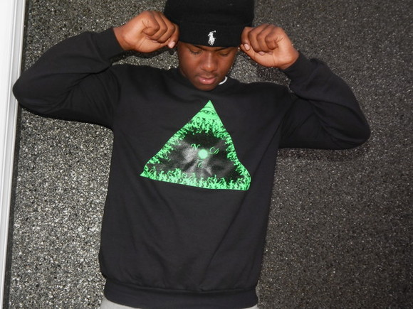 triangle hat sweater fire pyramid crewneck sweatpants sweatshirt polo beanie