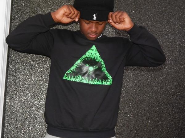 sweater crewneck sweatpants sweatshirt polo shirt hat beanie pyramid triangle fire