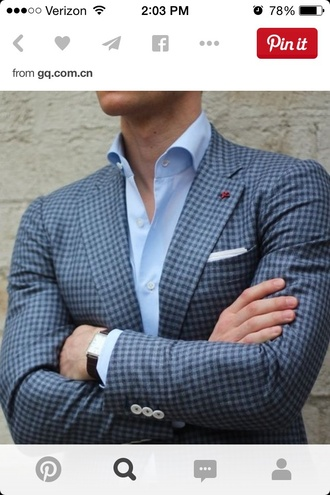 jacket gingham menswear mens jacket