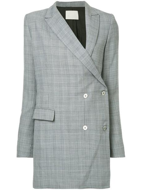 dress blazer dress women wool grey