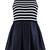 ROMWE | Sleeveless Striped Dress, The Latest Street Fashion