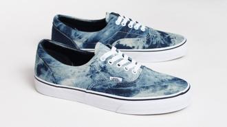 shoes vans ombre water blue vans authentic vanz