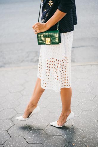 skirt midi skirt white