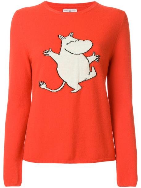 Chinti & Parker jumper women yellow orange sweater