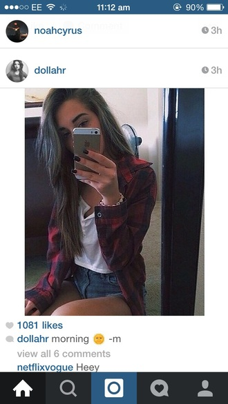 shirt checked red red checked love clothes fashion lovely fab model tumblr red checked shirt tumblr outfit