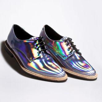 shoes holographic holographic shoes mens shoes men's dress shoes oxfords