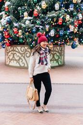 sandy a la mode,blogger,sweater,hat,jewels,top,winter outfits,beanie