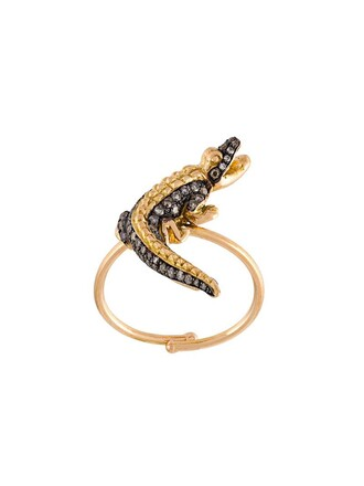 diamond ring women ring crocodile grey jewels