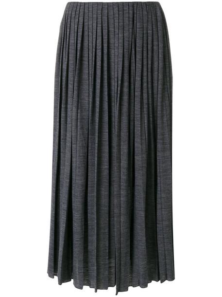 Fabiana Filippi skirt midi skirt pleated women midi cotton grey