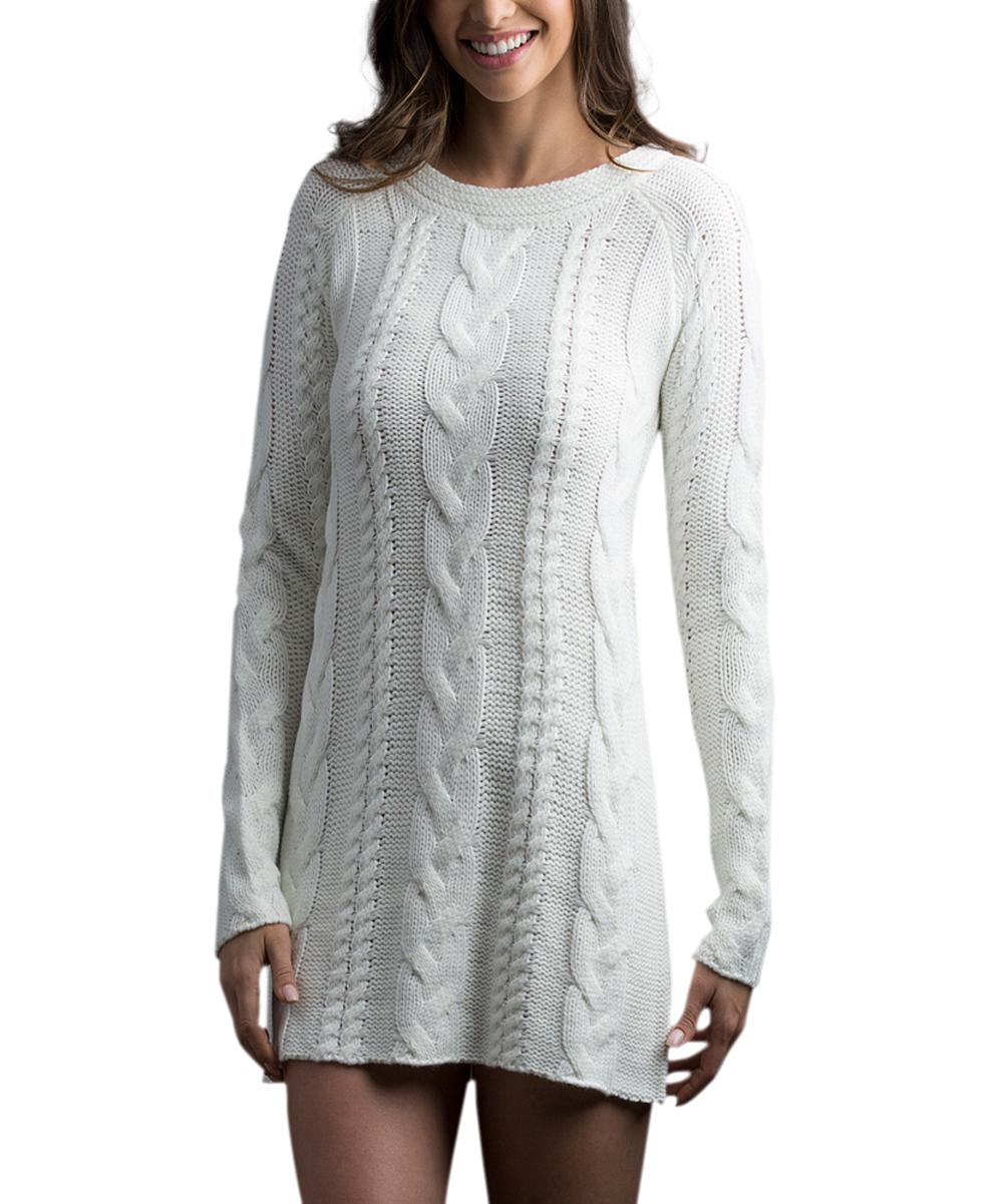 Legwear Snow Cable-Knit Boyfriend Sweater | zulily