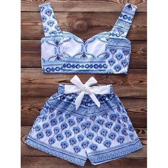 shorts short shorts crop crop tops cropped tribal pattern aztec bralette bra