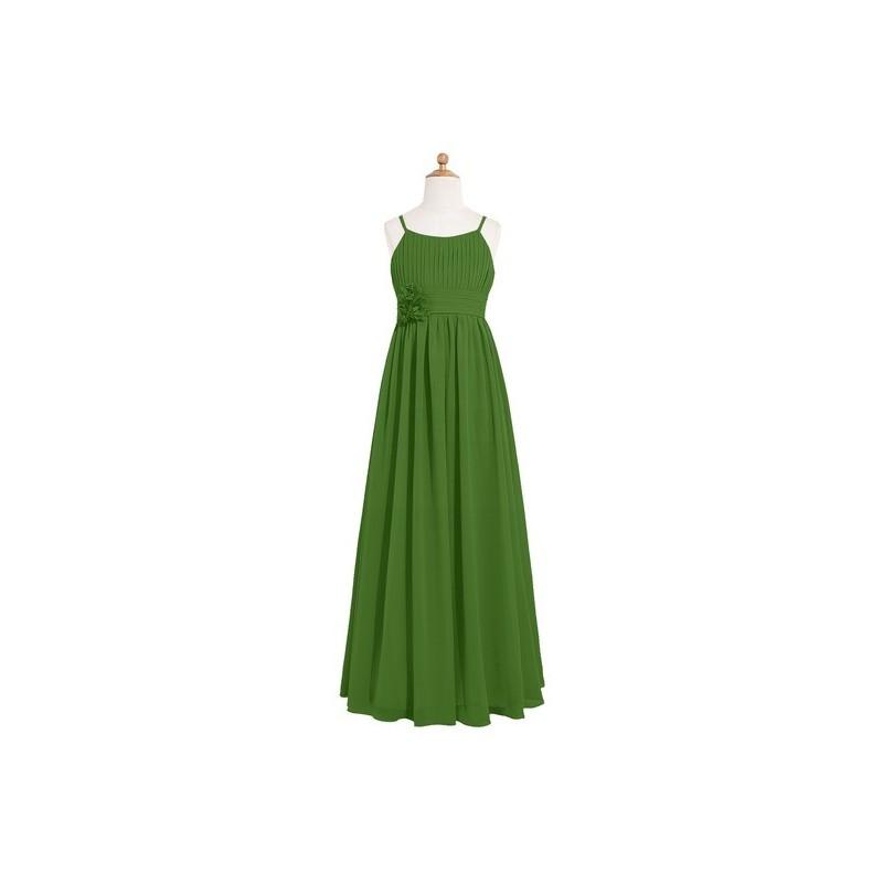 Moss Azazie Astrid JBD - Scoop Chiffon Back Zip Floor Length Dress - Charming Bridesmaids Store