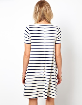 ASOS | ASOS Swing Dress In Stripe at ASOS