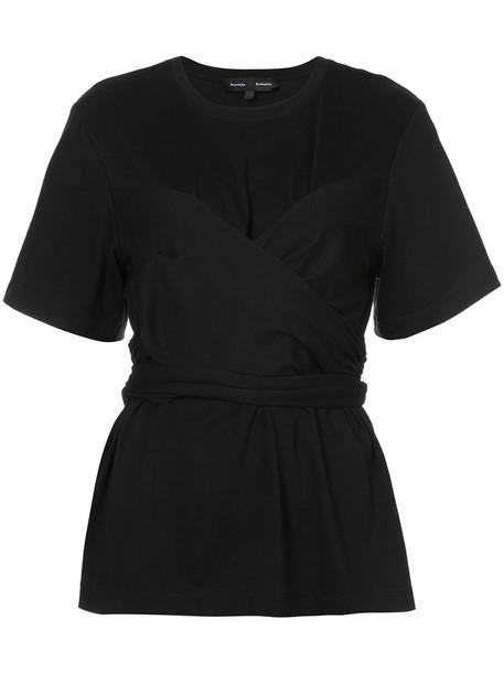 Proenza Schouler t-shirt shirt t-shirt short women cotton black top