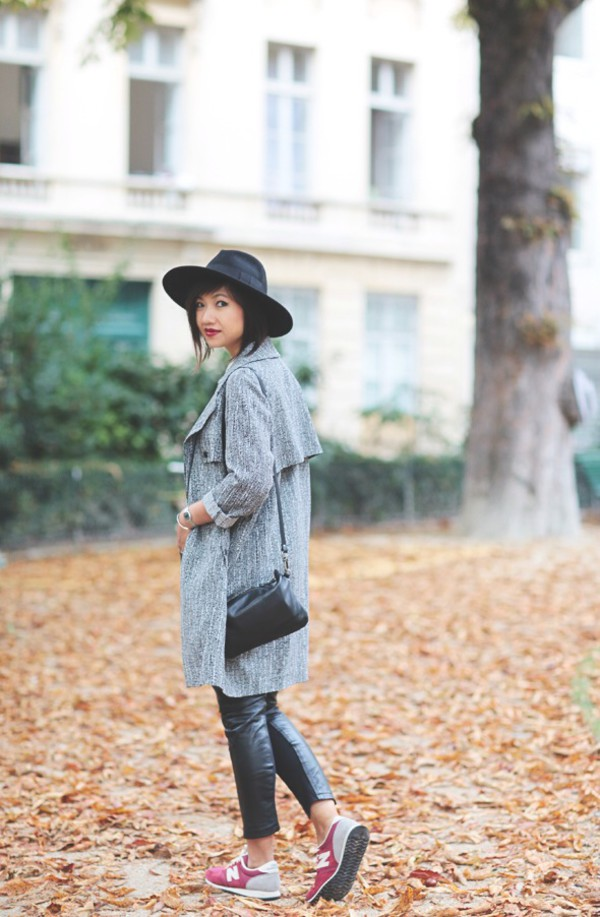 le monde de tokyobanhbao blogger bag make-up new balance grey coat