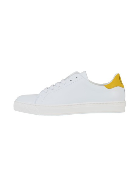 Anya Hindmarch leather white yellow shoes
