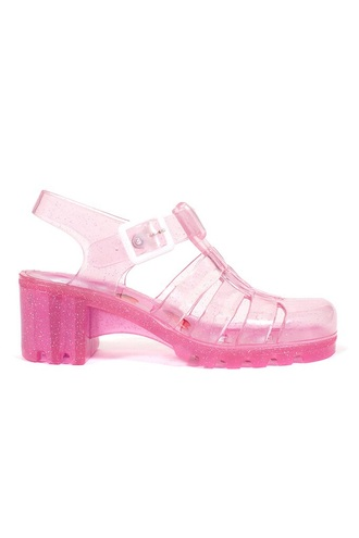 shoes jellies glitter pink clear pastel glitter shoes sandals
