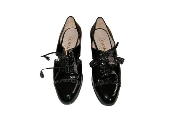 derbies shoes flat chanel black shoes