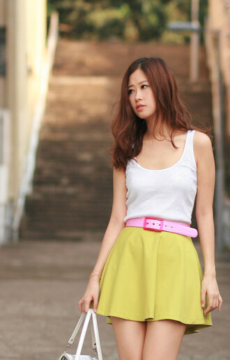 buckles mellow mayoness pink belt belt