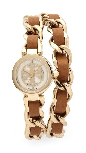 mini tan watch gold jewels