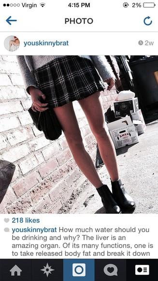 skirt flannel plaid skirt tartan tartan skirt