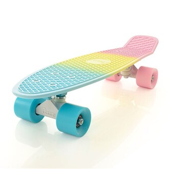home accessory skater pastel rainbow penny board