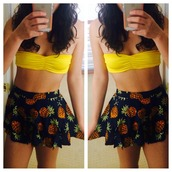 swimwear,yellow,bikini,mabell,ruched,bandeau bikini,bandeau,yellow swimwear,yellow bikini,bikini top,bandeau top