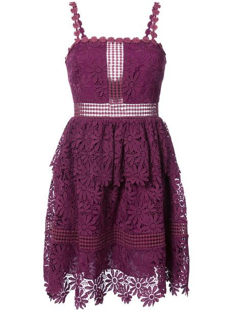 ZAC Zac Posen dress women purple pink
