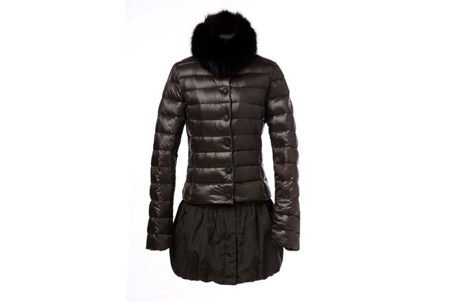 Moncler Women Satomi Long Down Coat Brown