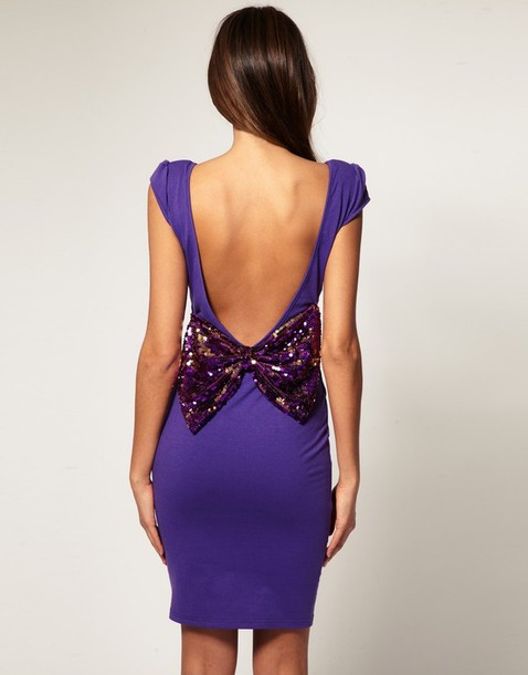 dress purple bows
