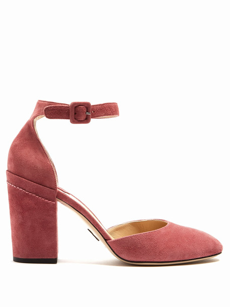 heel suede pumps pumps suede pink shoes