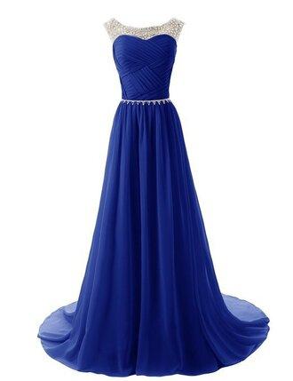 dress royal blue prom dress chiffon prom dress 2015 prom dress fashion prom dresses bridesmaid evening dress royal bridesmaid dress