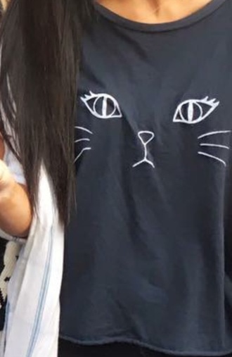 shirt cats cat shirt whiskers shirt cat tee cat face black t-shirt t-shirt cat eye t shirt print