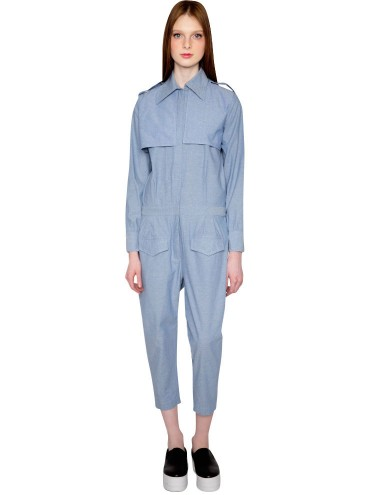 Farahbella Denim Jumpsuit - Chambray Jumpsuit -$285