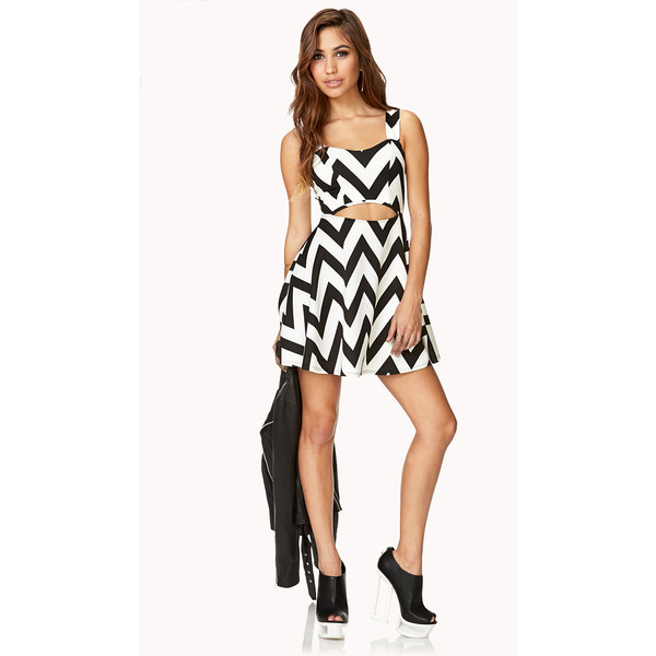 FOREVER 21 Mod Chevron Dress - Polyvore