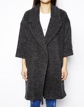ASOS | ASOS Slouch Textured Coat at ASOS