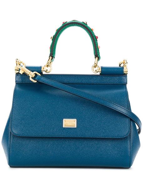 Dolce & Gabbana - mini Sicily bag - women - Leather - One Size, Blue, Leather