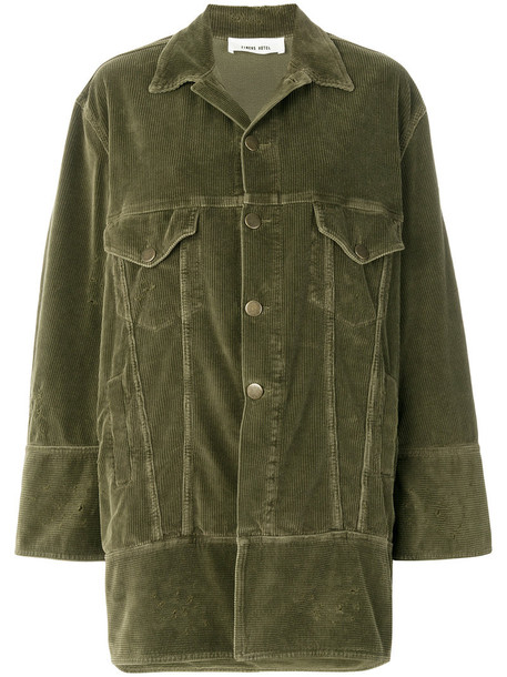 Circus Hotel jacket oversized women spandex cotton green