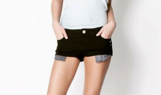 shorts black black shorts negro