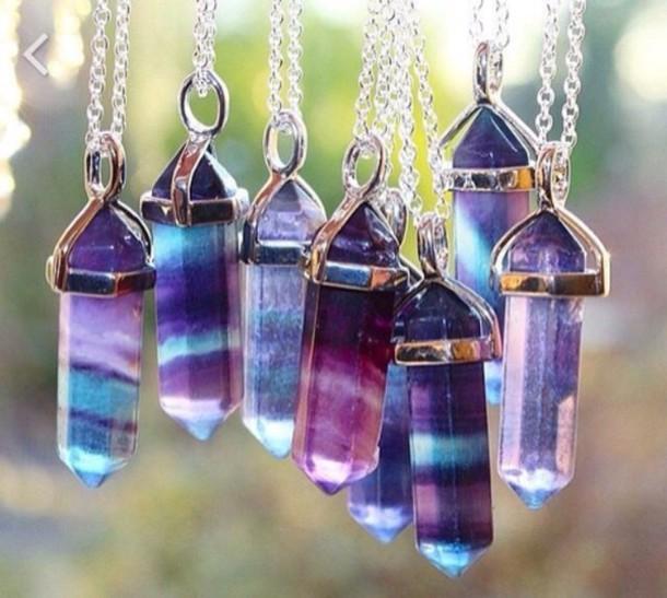jewels necklace style purple blue stone gem stone necklace crystal sliver sliver necklace crystal quartz crystal quartz necklace choker necklace quartz quartz necklaces delicate jewellery